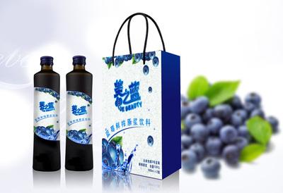 伽马龙蓝莓果汁包装设计